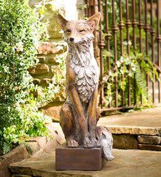 Lifesize Noble Fox Garden Statue | Wind and Weather Outdoor Statues, Garden Statues, Garden Sculptures, Dream Garden, Witch's Garden, Buddha Garden, Garden Deco, Yard Art, Wildlife