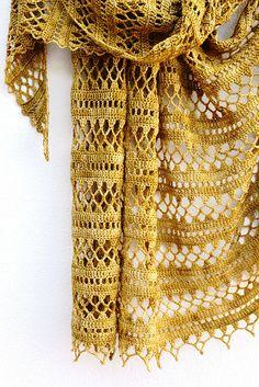 Ravelry: Suncatcher pattern by Elena Fedotova Crochet Shawls And Wraps, Crochet Scarves, Crochet Clothes, Shawl Patterns, Crochet Patterns, Malabrigo Sock, Crochet Accessories, Crochet Stitches, Knit Crochet