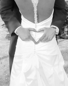 Grooms heart photo. Love this.
