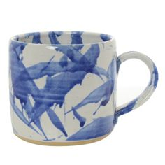 Splash Ceramic Small Mug Blue and White at Heal's