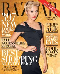 Miley Cyrus en Harpers Bazaar octubre 2013