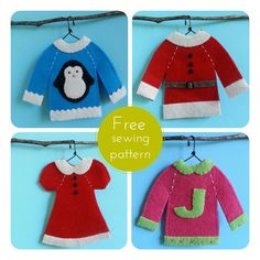 Ugly Christmas Sweaters Diy Superior Ugly Christmas Sweaters To Delig. Diy Ugly Christmas Sweater, Christmas Sewing, Handmade Christmas, Holiday Sweaters, Ugly Sweater, Primitive Christmas, Country Christmas, Christmas Projects, Felt Crafts