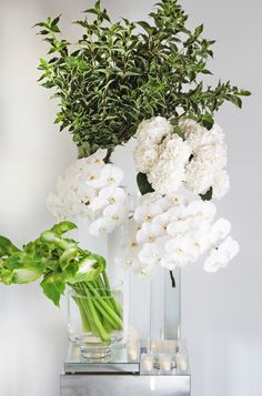 The natural beauty of fresh whites and greens. Floral design: Winston Flowers.