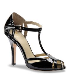 Look what I found on #zulily! Black Patent Leather Badre T-Strap Shoe by Isolá #zulilyfinds