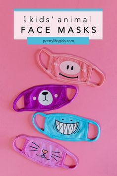 Back to School Crafts: Animal Face Masks for Kids - The Pretty Life Girls | We made these animal face masks that are full of personality and are SO easy to make with your Silhouette CAMEO 4. Plus, the designs for them are already ready to go since they are a quick (and adorable) download from the Silhouette Design Store. Your kids are sure to get a kick out of getting to look like a shark or a kitty, which we hope will help to take the edge off any mask-wearing hesitancy they may have…