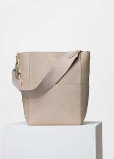 8609fda883 Celine Dune Goatskin Seau Sangle Shoulder Bag Celine Handbags