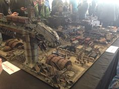 WarLlama 40k Now that is some amazing looking table. Not sure it plays that great though.