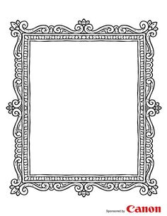 Frame 2 – Free Printable Coloring Pages Make your world more colorful with free printable coloring pages from italks. Our free coloring pages for adults and kids. Colouring Pages, Coloring Sheets, Coloring Pages For Kids, Coloring Books, Free Coloring, Printable Frames, Printable Pictures, Borders And Frames, Free Frames