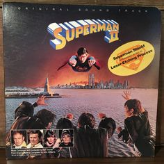 Superman II Laser Etched Original Motion Picture Soundtrack OST Vinyl Record LP 1981 Warner Bros. Comic Book Movie by vintagebaron on Etsy