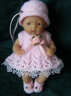 """Dress set for 7.5"""" Berenguer doll."""