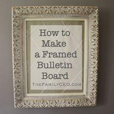 Diy Cork Board Empty Frame Foam Board And A Roll Of Cork