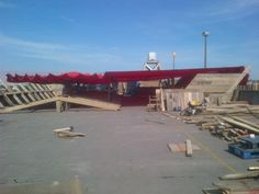 Building the roof for Bold Tendencies, summer 2012