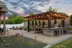 Flat Ui, Diy Garden Bar, Collaboration, Outdoor Living, Pergola, Outdoor Structures, Outdoor Life, Outdoor Pergola, The Great Outdoors