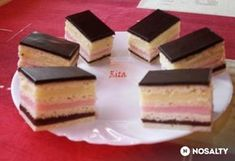 Színes szelet Hungarian Recipes, Hungarian Food, Cake Cookies, Nutella, Cheesecake, Food And Drink, Cooking Recipes, Baking, Sweet Ideas