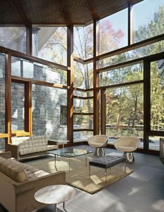 Image 12 of 20 from gallery of Glenbrook Residence / David Jameson Architect. Photograph by Paul Warchol Photography
