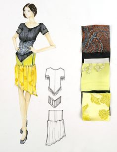 Fashion Design Portfolio, Student Fashion, Visual Diary, Sketchbook Ideas, Fashion Sketches, Fasion, Mood Boards, Dress Making, Workshop