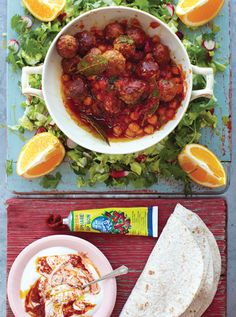 Lamb Meatballs With Chop Salad And Harissa Yoghurt: Jamie's 15 Minute Meals | Penguin Books New Zealand
