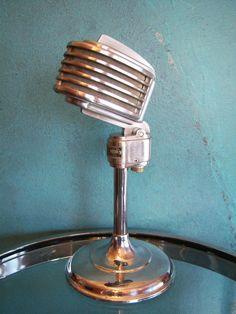Vintage RARE 1940s Turner 34x Microphone Deco Old Antique Midcentury Used 3 | eBay