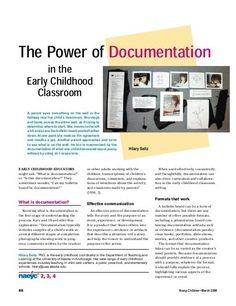 The Power of Documentation in the Early Childhood Classroom Reggio Emilia Classroom, Reggio Inspired Classrooms, Inquiry Based Learning, Early Learning, Preschool Learning, Learning Activities, Early Education, Early Childhood Education, How Does Learning Happen