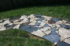 Bragging Rights (my scrap granite pathway) - Journals - CafeMom as soon as I get my hands on some scrap granite, I am doing this!!!!!