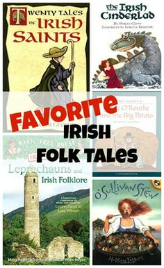 Favorite Irish Folk Tales books -- these are NOT Americanized tales about fairies or leprechauns, but real Irish folk tales.