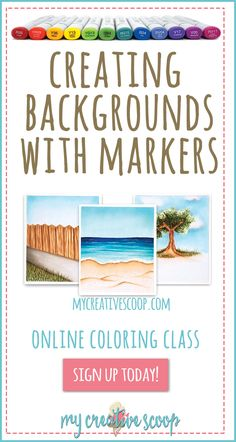 Learn how to create backgrounds freehand using your Copic Markers  Here's a list of the techniques you'll be learning in this course.  Blending / Flicking Blending multiple shades together Wood Leaves / Shrubbery Grass Depth Perception Water Sand / Dirt Coloring and creating textures Clouds / Sky We will be coloring 3 different scenes that you can easily combine together and with your stamps.