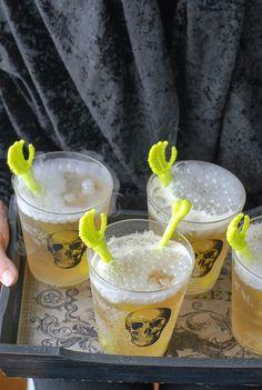 Tray of  Grave Digger Cocktails #halloween | BoulderLocavore.com