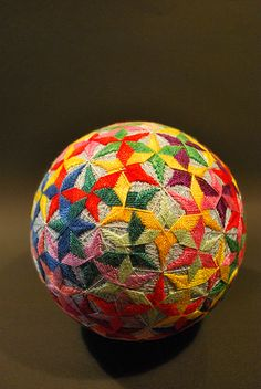 "Described on Flickr by NanaAkua as ""May2009_my 88yrs old grandma's works : TEMARI"" It's so beautiful isn't it?"