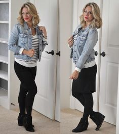 Ideas For Black Wedge Boats Outfit Jeans Ankle Booties Winter Skirt Outfit, Skirt Outfits, Winter Outfits, Cute Outfits, Casual Outfits, Wedge Booties Outfit, Tights Outfit, Ankle Booties, Black Wedges Outfit
