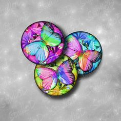 Butterfly images Digital collage sheet 1 inch circle keychain pendant images charm glass pendants download graphics by StudioDprint