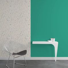 Intissé TERRAZZO coloris blanc