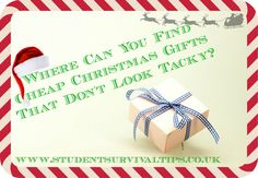 Where Can You Find Cheap Christmas Gifts That Don't Look Tacky?