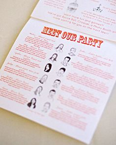 descriptions of wedding party members! i need to do this.