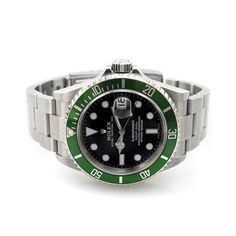 "Rolex Oyster Perpetual Date 50th Anniversary ""Green Submariner"" 16610LV #Cashmax"