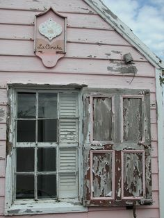 shabby chic pink Hopetown, Abaco (Bahama Out Islands)