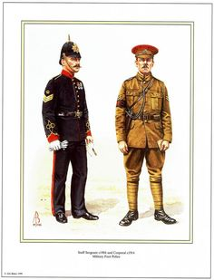 Royal Military Police - Staff Sergeant c.1904 & Corporal 1914