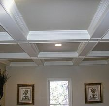 how to build a coffered ceiling Ceiling Design, Ceiling Ideas, Ceiling Detail, Ceiling Lighting, Coffered Ceilings, Budget Bedroom, Girls Bedroom, Bedroom Ideas, Master Bedroom