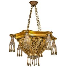 Antique Tear Drop European Bronze Chandelier | From a unique collection of antique and modern chandeliers and pendants  at http://www.1stdibs.com/furniture/lighting/chandeliers-pendant-lights/
