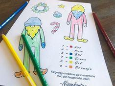 Dette artige fargeleggingsarket er perfekt å putte i barnas julekalender! Activities