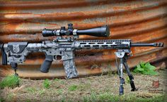 I want this rifle - Black Rain Ordnance grendel custom build done in Cerakote 4 color camo. Custom Ar15, Custom Guns, Gun Vault, Ar Rifle, Ar 15 Builds, Ar Build, Shooting Guns, Firearms, Shotguns