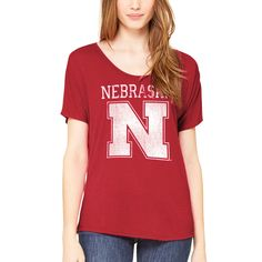 N - Zone Game Day Scoop Tee - SS - Red