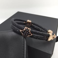 Galuchat bracelet  Rose gold and black  #gioiajewel#galuchat#cartier#white#watches#watch#rosegold#rolex#richardmille#audemarspiguet#offshore#tourbillon#jewelry#men#mensstyle#miami#losangeles#london#paris#newyork#milano#fashionweek#fashion#daytona#gmt#rm011#ibiza by gioiajewelry