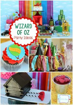 Wizard of Oz Party Ideas from playpartypin.com including some of the most creative ideas like a cornfield made from licorice and ruby red slipper cake pops!