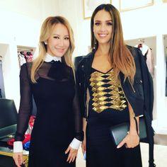 CoCo Lee and Jessica Alba