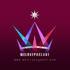 WE LOVE PAGEANT : Logo : Design Direction : W + E + Crown + Lighting + Silver + Rich + Stage + Competition + Winner + Diamond