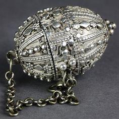 Superb Antique Indian Silver Pomander. 19th. c.