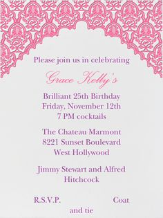 Arabesque By Paperless Post Customize One Of Hundreds Online Birthday Party Invitations With