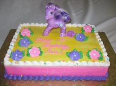 my little pony sheet cake - Google Search Birthday Cake Girls, Birthday Cakes, 4th Birthday, Cupcake Cookies, Cupcakes, My Little Pony Cake, Girl Cakes, Sweet Cakes, Cake Designs