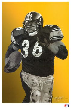 Steelers JEROME BETTIS Lithograph via kevin-john studio. Click on the image to see more!