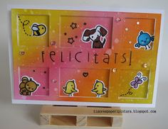 Tisores, paper i pintura: Targeta finestres animades/ Window card let's play lawn fawn